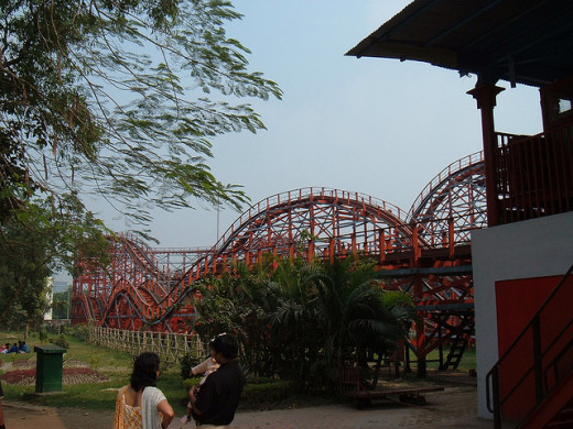 Cyclone in India, an exact copy of demolished Cyclone coaster in England