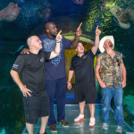 Basketball legend Shaquille O'Neal, and Animal Planet's Tanked stars, Wayde King, Brett Raymer and Redneck, visited SEA LIFE Orlando Aquarium to film the season finale of the hit series.